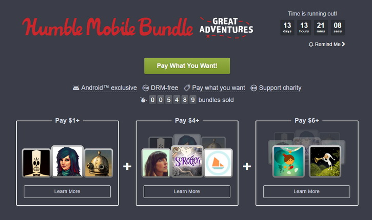 Humble Mobile Bundle: Great Adventures