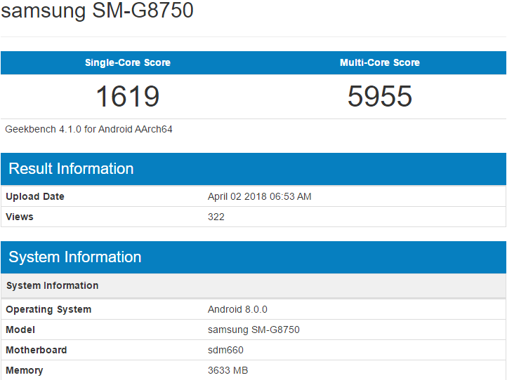 Samsung Galaxy S9 mini замечен в GFXBench