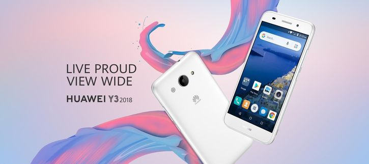 Анонс Huawei Y3 2018 с Android Go